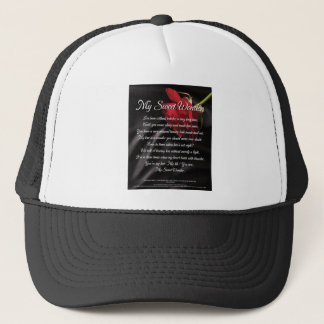 My Sweet Wonder Poetry Poster Trucker Hat