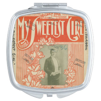 My Sweetest Girl - Square Compact Mirror