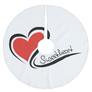 My Sweetheart Valentine Brushed Polyester Tree Skirt