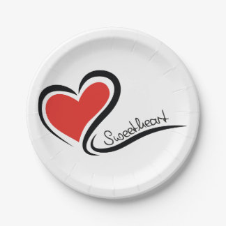 My Sweetheart Valentine Paper Plate