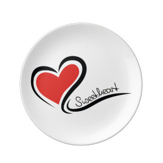 My Sweetheart Valentine Plate