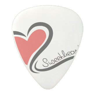 My Sweetheart Valentine Polycarbonate Guitar Pick