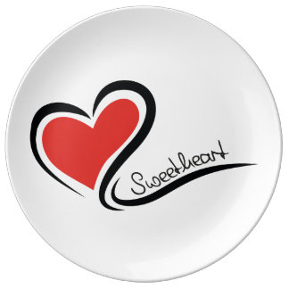My Sweetheart Valentine Porcelain Plates