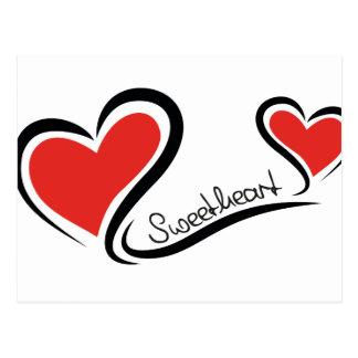My Sweetheart Valentine Postcard