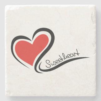 My Sweetheart Valentine Stone Coaster