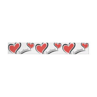 My Sweetheart Valentine Wraparound Address Label