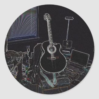 My Takamine (Sticker-Large) Classic Round Sticker