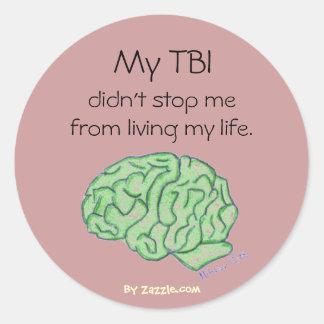 """My TBI didn't stop me"" sticker"
