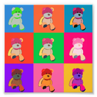 My Teddy Bear Pop Art Photo Print