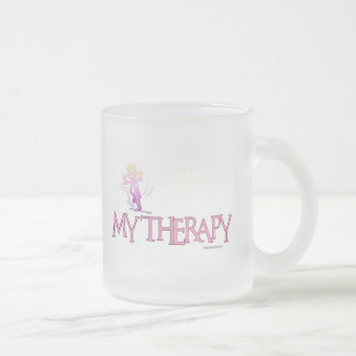 MY THERAPY FROSTED GLASS COFFEE MUG