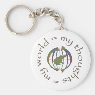 """My Thoughts = My World"" Keychain"