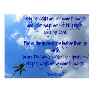 My thoughts postcard