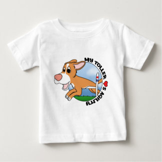 My Toller Loves Agility Baby's Baby T-Shirt