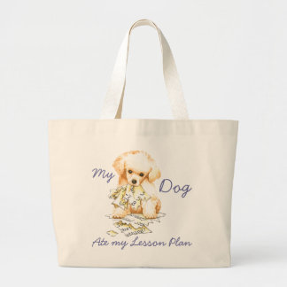 My Toy Poodle Ate My Lesson Plan Jumbo Tote Bag