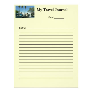 My Travel Journal Personalized Letterhead