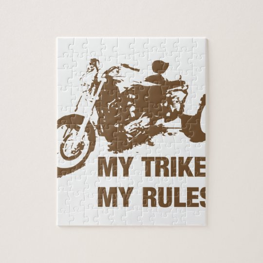 my trike my rules jigsaw puzzle