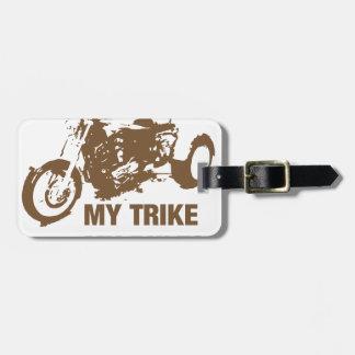 my trike my rules luggage tag