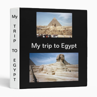 My Trip to Egypt  Avery Binder