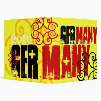 """""""My Trip to Germany 2010"""" German Celtic Flag 3 Ring Binders"""