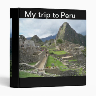 My Trip to Peru Binder