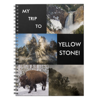 My Trip to Yellowstone National Park Spiral Notebook