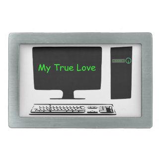 My True Love- My Computer Belt Buckles