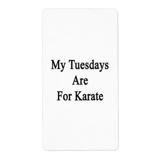 My Tuesdays Are For Karate Personalized Shipping Labels