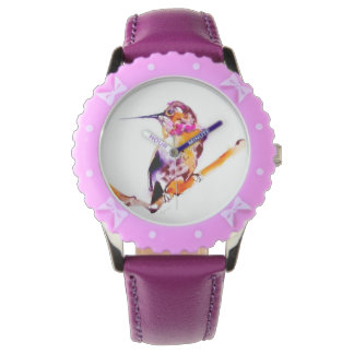 My Twig Hummingbird Print Watch