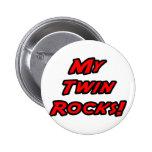 My Twin Rocks 2 Inch Round Button