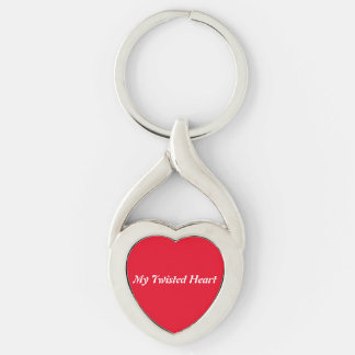 MY TWISTED HEART Silver-Colored TWISTED HEART KEYCHAIN