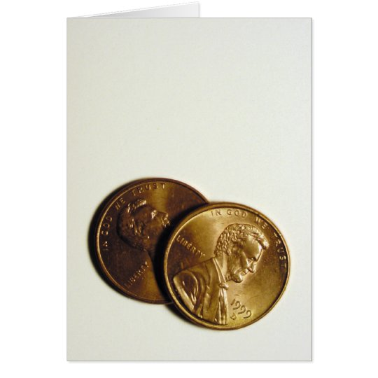 """""""my two cents"""" greeting card"""
