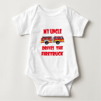 My Uncle Drives the Firetruck Baby Bodysuit
