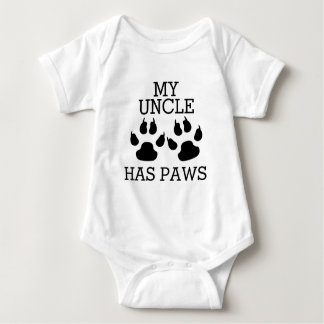 My Uncle Has Paws Baby Bodysuit