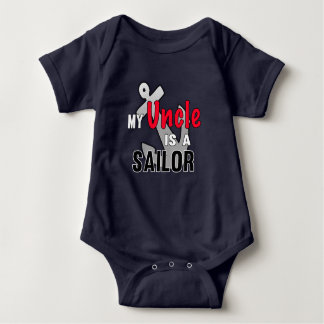 My Uncle is A Sailor Baby Bodysuit