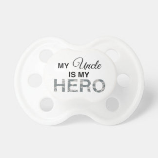 My Uncle is my Hero Digital Camouflage Baby Pacifier