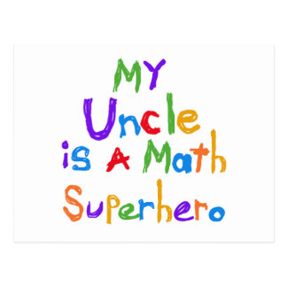 My Uncle Math Superhero T-shirts and Gifts Postcard