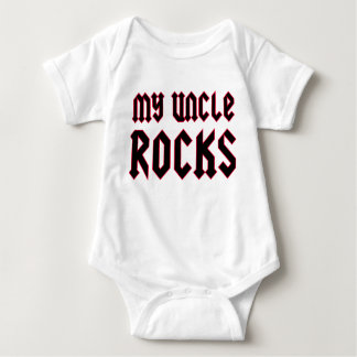 My Uncle Rocks Baby Bodysuit