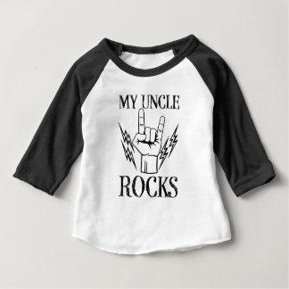 My Uncle Rocks funny baby boy nephew shirt