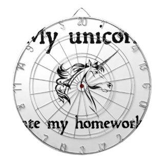 my unicorn ate my home work dartboard