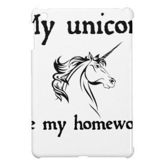 my unicorn ate my home work iPad mini cases