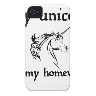 my unicorn ate my home work iPhone 4 covers