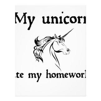 my unicorn ate my home work letterhead