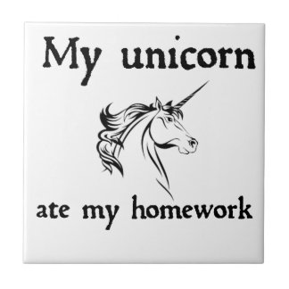 my unicorn ate my home work tile