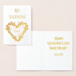 My Valentines Day Sweetheart Foil Card
