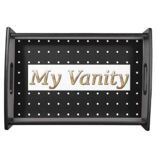 """""""My Vanity """" Metal* Words-Dots _Vanity Tray"""
