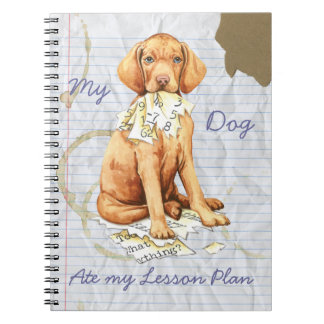 My Vizla Ate My Lesson Plan Spiral Note Book