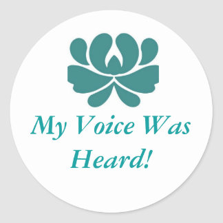 My Voice Was Heard Classic Round Sticker