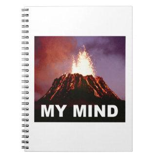 my volcano mind notebook