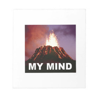 my volcano mind notepad