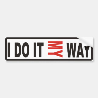 My way bumper sticker